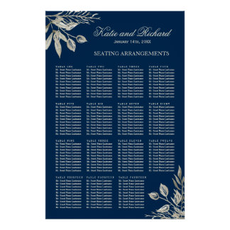 Winter Wedding Seating Arrangement Poster