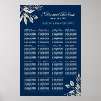 Winter Wedding Seating Arrangement Poster