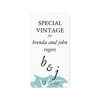 Winter Wedding Wine Bottle Labels