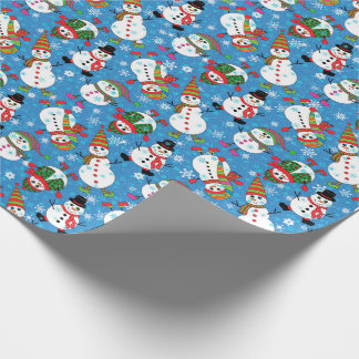 Winter Whimsy Snowman Pattern Wrapping Paper