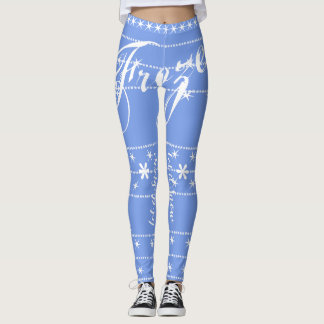 Winter White Blue 'Let It Snow/Frozen' Leggings