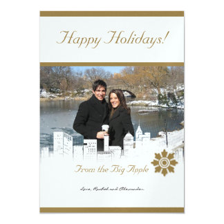 Winter White in New York Holiday Photo Card 13 Cm X 18 Cm Invitation Card