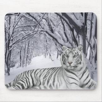Winter White Tiger Mousepad