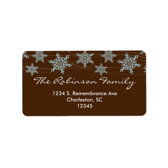 Winter Winds Christmas Address Label