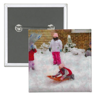 Winter - Winter is Fun Pinback Buttons