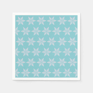 Winter Wishes Holidays Snowflakes Party Napkins Paper Napkins