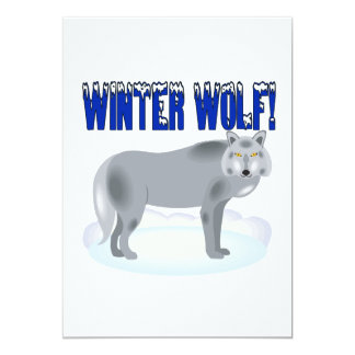 Winter Wolf 13 Cm X 18 Cm Invitation Card