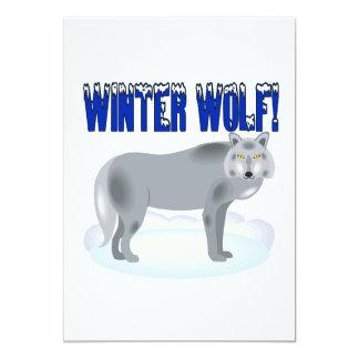 Winter Wolf 13 Cm X 18 Cm Invitation Card