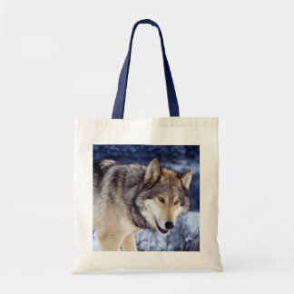 Winter Wolf 2 Budget Tote Bag