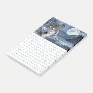 Winter Wolf Full Moon Post-it Notes