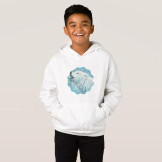 Winter Wolf Kid's Fleece Pullover Hoodie