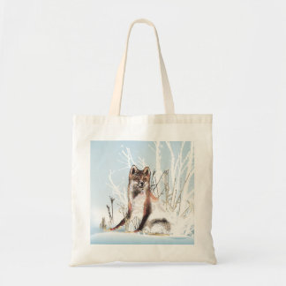Winter Wolf Budget Tote Bag