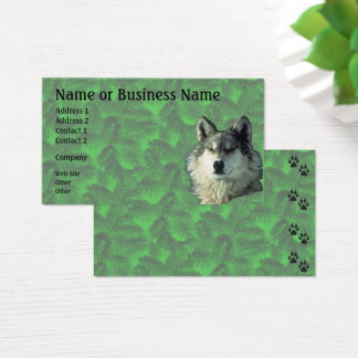 Winter Wolf with Spruce Business or Profile Card 2