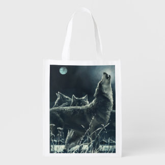 Winter Wolves Reusable Grocery Bag