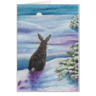 Winter Wonder Rabbits by BiHrLe Card