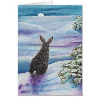 Winter Wonder Rabbits by BiHrLe Card