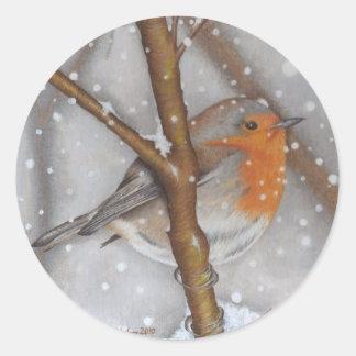 Winter Wonder Round Sticker