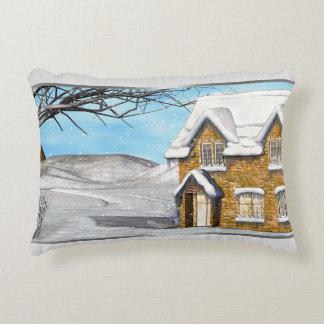 Winter Wonderland 2 Folk Art Accent Pillow