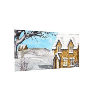 Winter Wonderland 2 Folk Art Gallery Wrap Canvas