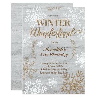 winter wonderland birthday invitations & announcements   zazzle.au, Birthday invitations