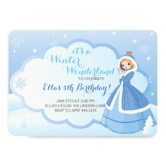 Winter Wonderland Birthday Party Invitations