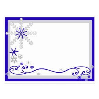 Winter Wonderland Blue Silver Snowflakes Post Card