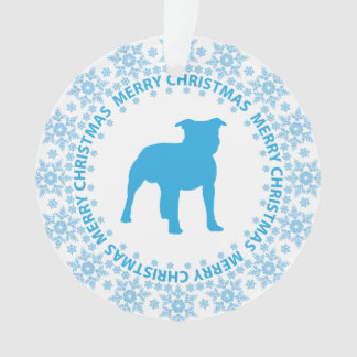 Winter Wonderland Blue & White Snowflake Dog Breed Ornament