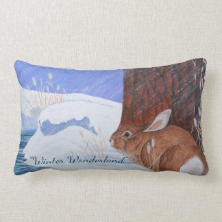 Winter Wonderland ...Brrr...Bunny! Lumbar Cushion