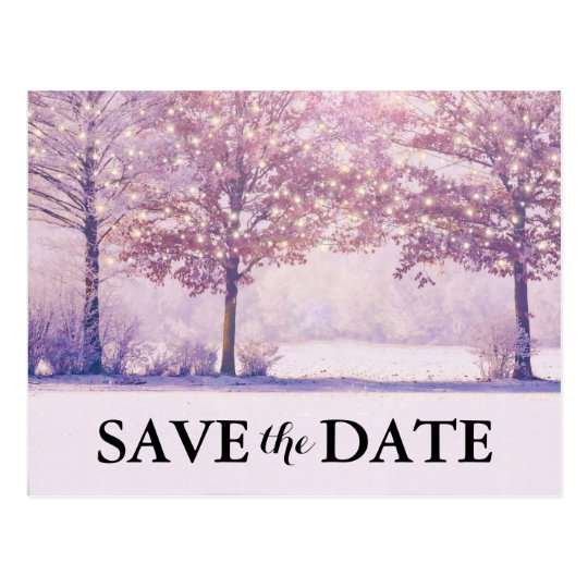 Winter Wonderland Christmas Holiday Save the Date Postcard