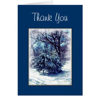 Winter Wonderland Christmas Thank You Card Cards