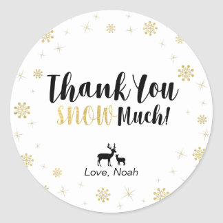 Winter wonderland, Custom Gold Thank You Sticker