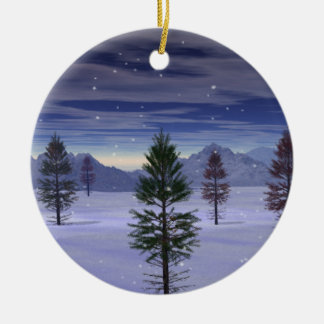 """Winter Wonderland""Double sided. Ceramic Ornament"