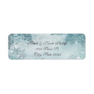 Winter Wonderland Elegant Magical Snowflakes Return Address Label