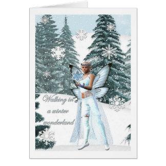 winter wonderland Fairy card