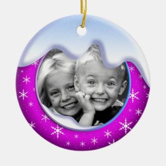 Winter Wonderland Family Ornament Purple
