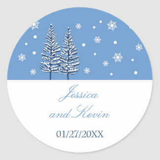 Winter Wonderland Favor Sticker