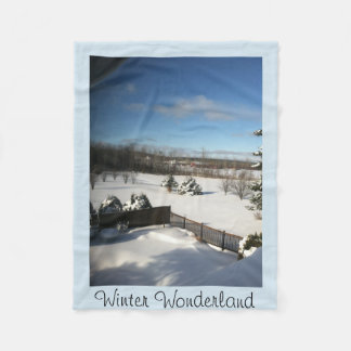 Winter Wonderland Fleece Blanket