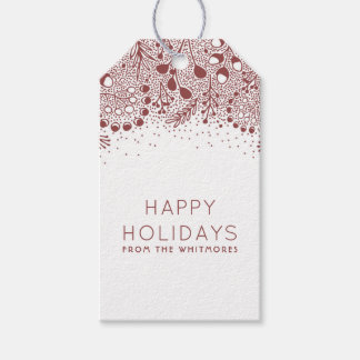 Winter Wonderland Happy Holidays Gift Tags