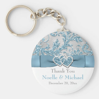 Winter Wonderland, Hearts Wedding Favor Key Chain