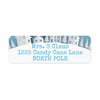 Winter Wonderland Holiday Return Address Labels