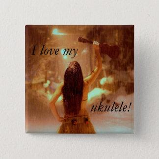 Winter wonderland, I love my, ukulele! 15 Cm Square Badge