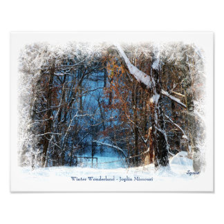Winter Wonderland in Joplin Missouri Photo Print