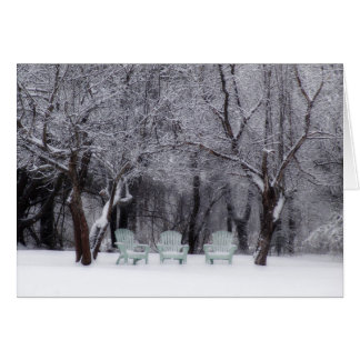 Winter Wonderland In Maine Card