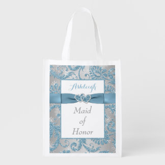 Winter Wonderland Joined Hearts Maid of Honor Bag Grocery Bags