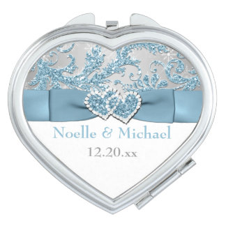 Winter Wonderland, Joined Hearts Wedding Compact Compact Mirror