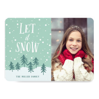 Winter Wonderland Let It Snow | Holiday Photo Card
