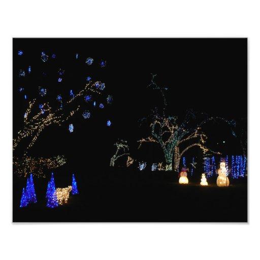 Winter Wonderland Lights Holiday Photo Print