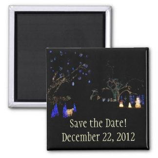 Winter Wonderland Lights Save the Date Magnet