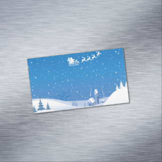 Winter Wonderland Magnetic Business Cards