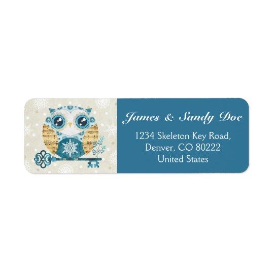 Winter Wonderland Owl Return Address Labels